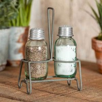 Henderson Salt & Pepper Caddy with Shakers - Set of 2
