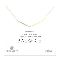 Dogeared, Balance Wide V Necklace, Gold Dipped 18 inch