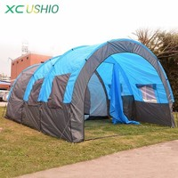 480x310x210cm Big Tunnel Tent 5-8 Person Huge Family Tent House for Outdoor Camping Party Rainproof 4 Season Tent 10KG