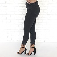 Drew Lace Denim Ankle Pants in Back