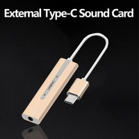 2.1 all 2 in 1 External Type C Usb Sound Card for USB C devices 3.5mm Audio Jack Headphone Mic Adapter for computer mobile phone