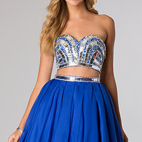 Strapless Two Piece Party Dress by Alyce
