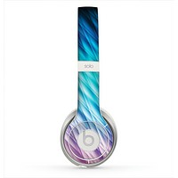 The Vibrant Blue and Pink Neon Interlock Pattern Skin for the Beats by Dre Solo 2 Headphones