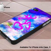 Love Browning Deer Hunting nebula - Photo Print On Hard Plastic- iPhone 4 Case - iPhone 4s Case - iPhone 5 Case