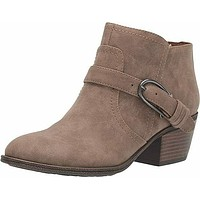 Indigo Rd. Women's Clarice Taupe Suede Ankle Buckle Boots Shoes Size 8.5 US