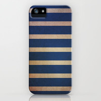 stripes (navy & chocolate) iPhone & iPod Case by daniellebourland