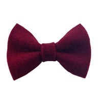 Wine Red Colored Recycled Felt Hair Bow Ribbon FREE SHIPPING