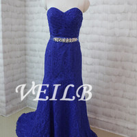 Sexy mermaid evening dress prom party dress, lace prom dresses celebrity red carpet dress, lace mermaid bridal wedding dress