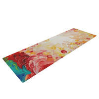 "Ebi Emporium ""Summer Days"" Red Tan Yoga Mat"