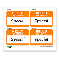 Special Hello My Name Is - Sheet of 4 Stickers