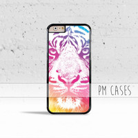 Colorful Indie Tiger Case Cover for Apple iPhone 4 4s 5 5s 5c 6 6s SE Plus & iPod Touch