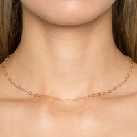 Gold Chainlink Necklace - Accessories