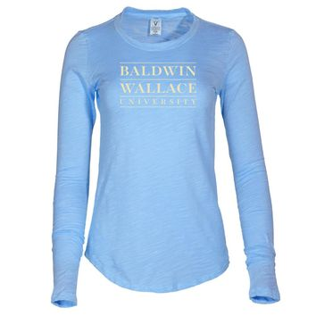 NCAA NCAA Baldwin Wallace University Yellow Jackets - BW-01 Women's Long Sleeve Slub Tee Shirt