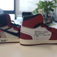 Beauty Ticks Air Jordan 1 Chicago / Off White Basketball Shoes