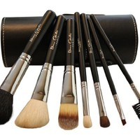 Best Professional Makeup Brushes Set for Eye and Face, Includes FREE Leather Brush Holder, Recommended by Michelle Money, Great for Travel, High Quality Natural Real Hair Kit for Flawless Results.