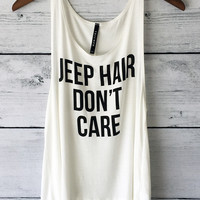 Jeep Hair Don't Care Tank Top Shirt for Women