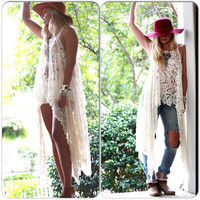 Gypsy Tunic Dress, Bohemian Magnolia lace Pearl, Boho dresses Stevie Nicks Style, Vagabond wanderer, Romantic, True Rebel clothing Plus size