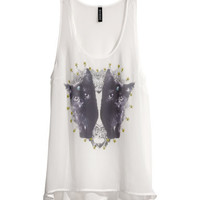 Sheer Oversized Tank Top - from H&M