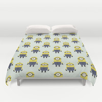 Minions (Patterns Please Series #1) Duvet Cover by Lalaine Lim