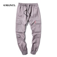 Hip Hop Straight Pants Men 2017 New Fashion Streetwear Mens Sweatpants Drawstring Trousers for Men Loose Joggers Casual Pants