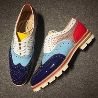 DCCK2 Cl Christian Louboutin Loafer Style #2317 Sneakers Fashion Shoes