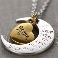 To The Moon & Back Necklace - Mom