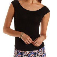 Off-the-Shoulder Tee by Charlotte Russe