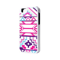 Pink Geometric iPhone 6 Plus 6 5S 5 5C 4 Rubber Case