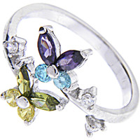 Sterling Silver 925 Cubic Zirconia BUTTERFLY Toe Ring | Body Candy Body Jewelry