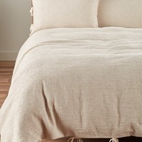 Nordstrom at Home Waffle Knit Washed Cotton & Linen Duvet Cover | Nordstrom