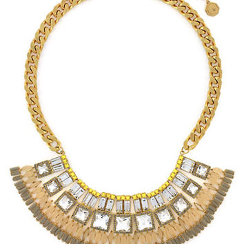 Louise Et Cie Gold Tone and Mixed Stone Drama Necklace