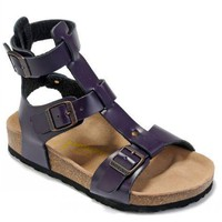 Birkenstock Chania Sandals Leather Deep Purple