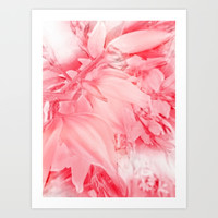 Flowering Branch in Red, Pink and White Art Print by Jenartanddesign