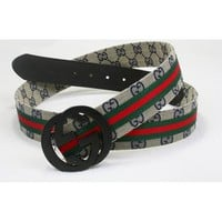 Gucci Women or Men Fashion Smooth Buckle Leather Belt