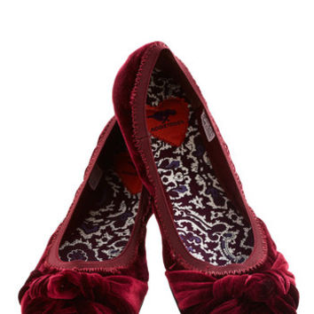 ModCloth First Act Flat in Mulberry