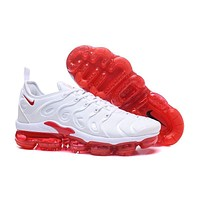 2018 Nike Air VaporMax Plus TN White Red Sport Running Shoes