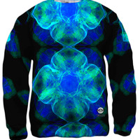Green Blue Fractal Jelly Fish