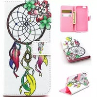 Unique Dreamcatcher Case Cover PU Leather Wallet for iPhone & Samsung Galaxy S6  iPhone 6s Plus