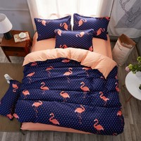 Cool Lai Yin Sun 3pcs King Size Bedding Sets Flamingo Queen Size Duvet Cover Sets Pillowcases Bed Linen Bed ClothesAT_93_12