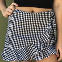 Off To The Races Skirt- Black/ White