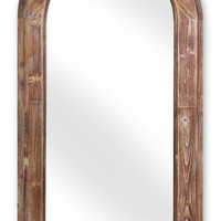 Park Avenue Collection Arched Mirror w/Wood Frame