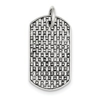 Sterling Silver Dog Tag Pendant QC5169