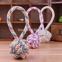 Dog Rope Pull Ball Toy (Random Color)