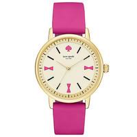 kate spade new york Crosby Bow Marker Pink Silicone Strap Watch | Dillards