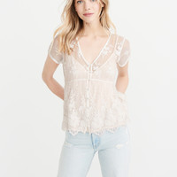 Womens Two-Piece Lace Top | Womens Tops | Abercrombie.com