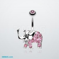 Elephant Walk Belly Button Ring