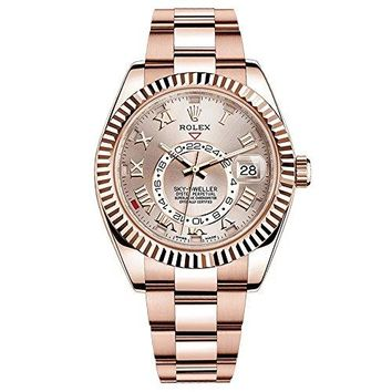 Rolex Sky-Dweller 42mm Everose Gold Watch 326935