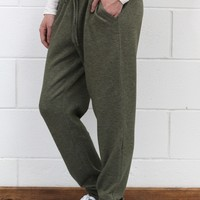 Loose Fitting Jogger Sweatpants {Olive}