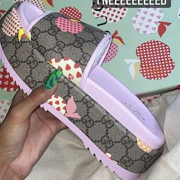 GUCCI THE LATEST THICK SOLED SLIPPERS