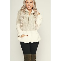 Snowy Days Pullover (Oatmeal)